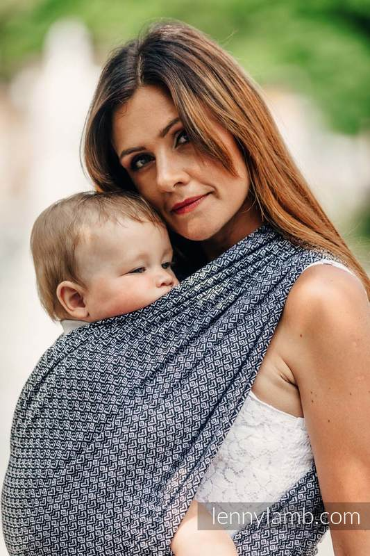 Baby Wrap, Jacquard Weave (100% cotton) - LITTLE LOVE - HARMONY - size XS #babywearing