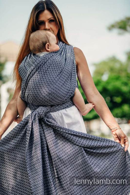 Baby Wrap, Jacquard Weave (100% cotton) - LITTLE LOVE - HARMONY - size S (grade B) #babywearing