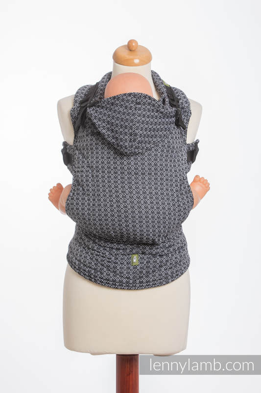 Ergonomic Carrier, Baby Size, jacquard weave 100% cotton - LITTLE LOVE HARMONY, Second Generation #babywearing
