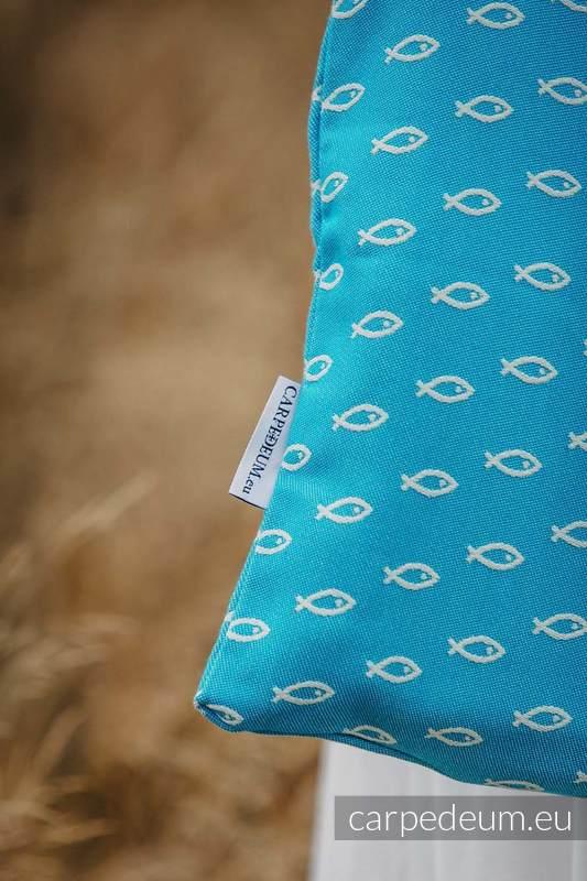 Torba z materiału żakardowego, (100% bawełna) - ICHTYS - NIEBIESKI - uniwersalny rozmiar 33cmx39cm #babywearing