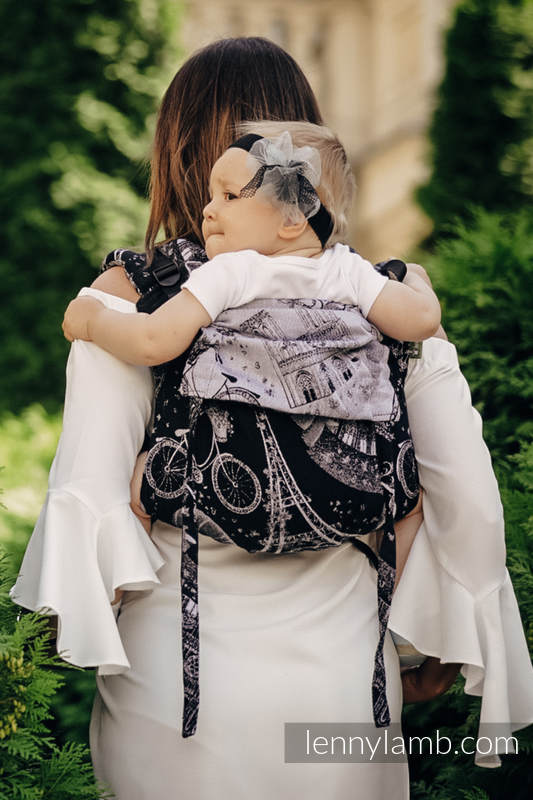 Lenny Buckle Onbuhimo Tragehilfe, Größe Toddler, Jacquardwebung (100% Baumwolle) - CITY OF LOVE AT NIGHT  #babywearing