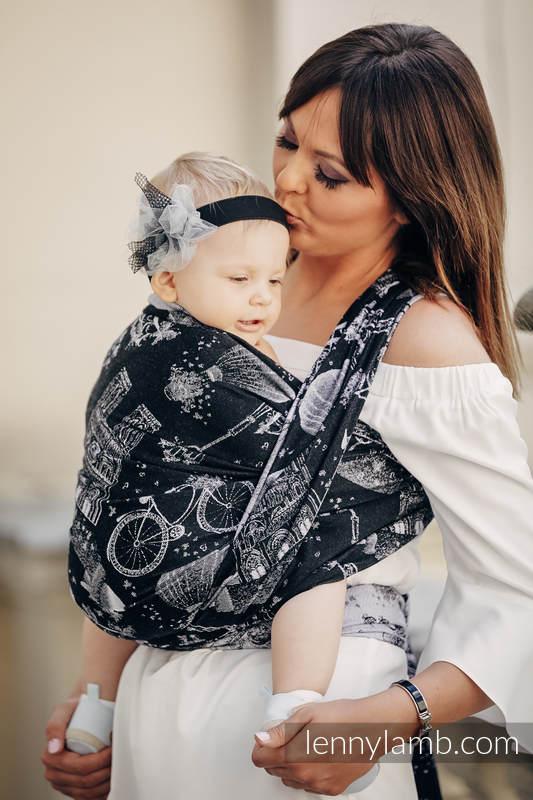 Baby Wrap, Jacquard Weave (100% cotton) - CITY OF LOVE AT NIGHT - size XL #babywearing