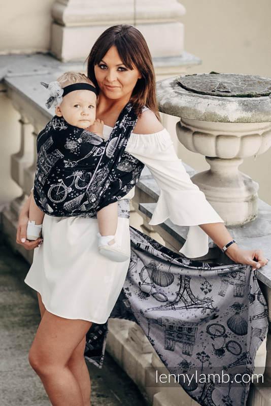 Baby Wrap, Jacquard Weave (100% cotton) - CITY OF LOVE AT NIGHT - size M #babywearing