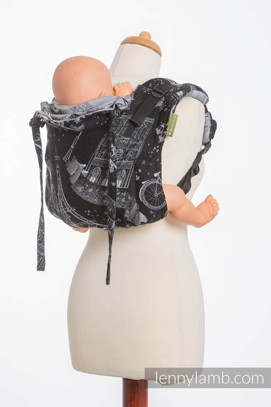 Lenny Buckle Onbuhimo baby carrier, toddler size, jacquard weave (100% cotton) - CITY OF LOVE AT NIGHT  #babywearing