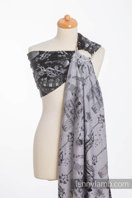 RingSling, Jacquardwebung (100% Baumwolle) - CITY OF LOVE AT NIGHT (grad B) #babywearing