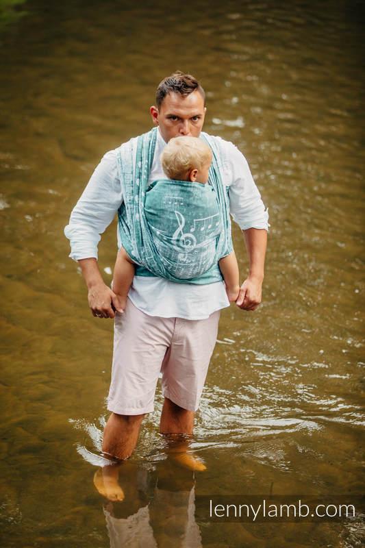 Baby Wrap, Jacquard Weave (60% cotton 28% linen 12% tussah silk) - FOREST SYMPHONY - size XL #babywearing