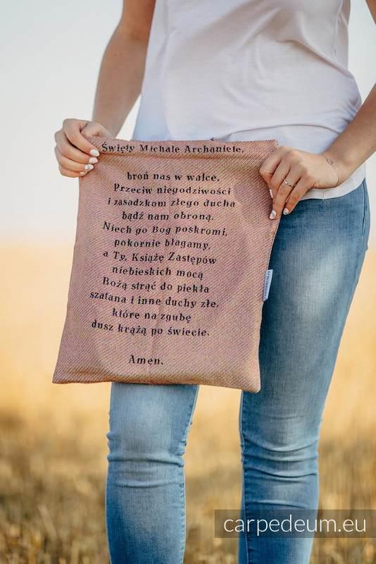 Torba z materiału żakardowego, (100% bawełna) - MICHAŁ ARCHANIOŁ - uniwersalny rozmiar 33cmx39cm #babywearing