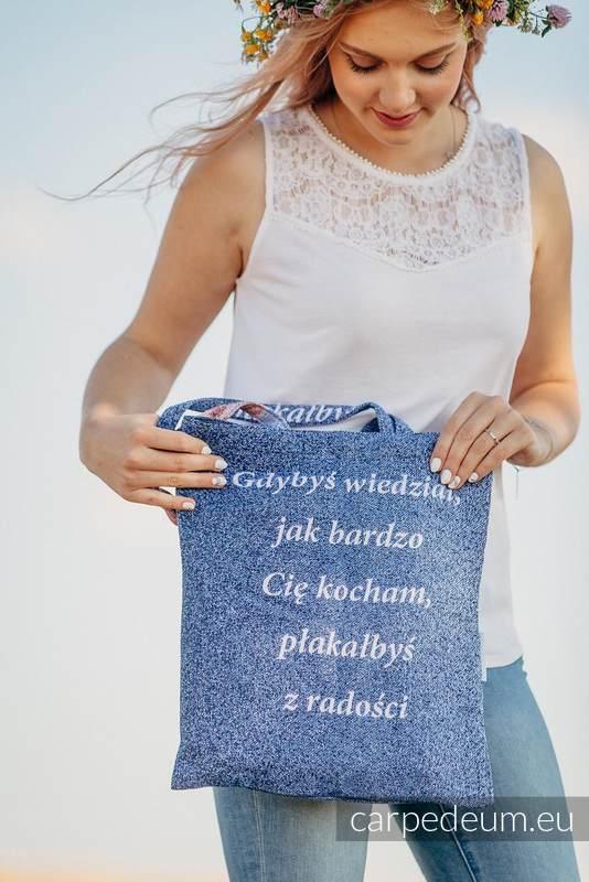 Torba z materiału żakardowego, (100% bawełna) - MATKA BOŻA TIHALJINA - uniwersalny rozmiar 33cmx39cm #babywearing