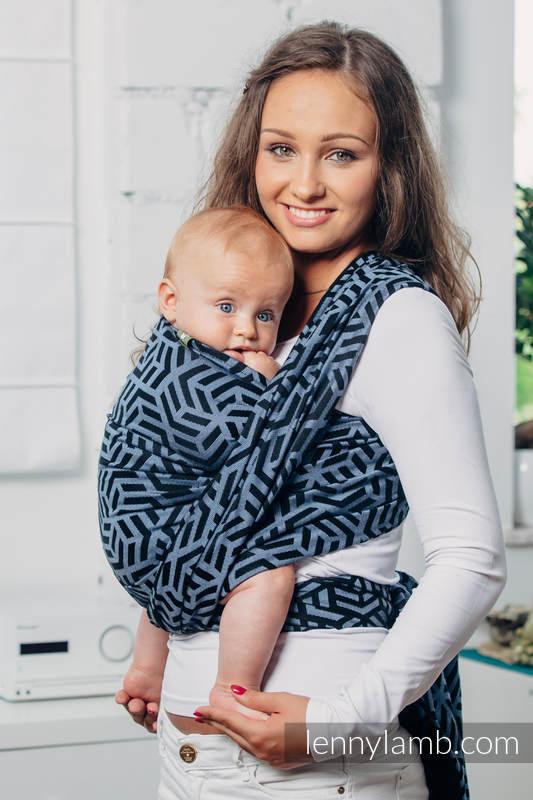 Basic Line Baby Sling - KYANITE, Jacquard Weave, 100% cotton, size L #babywearing