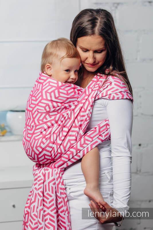 Basic Line Baby Sling - TOURMALINE, Jacquard Weave, 100% cotton, size XL #babywearing