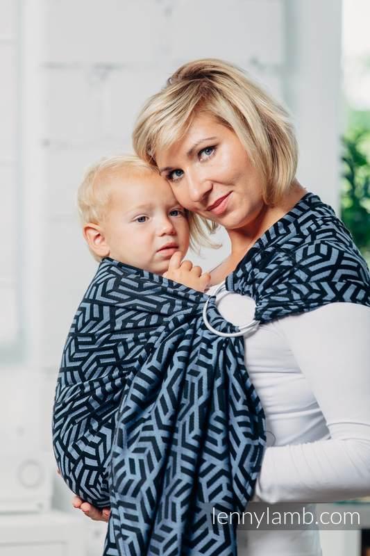 Basic Line Ring Sling - KYANITE - 100% Cotton - Jacquard Weave -  with gathered shoulder - standard 1.8m #babywearing