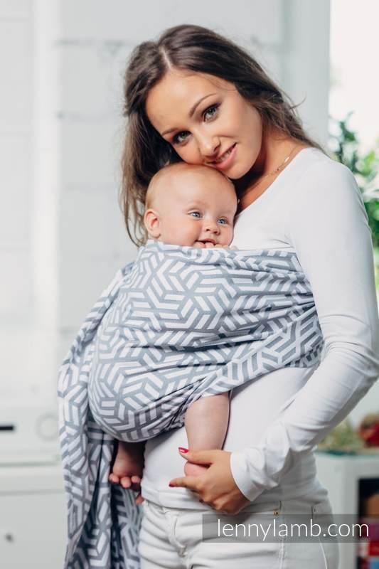 Bandolera de anillas Línea Básica - PEARL - 100% algodón, tejido jacquard - con plegado simple - standard 1.8m (grado B) #babywearing