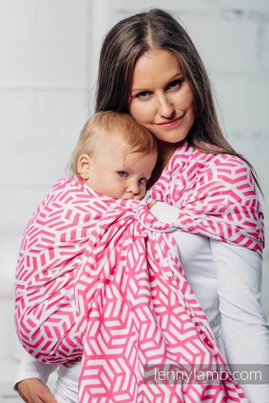 Bandolera de anillas Línea Básica - TOURMALINE - 100% algodón, tejido jacquard - con plegado simple - long 2.1m #babywearing