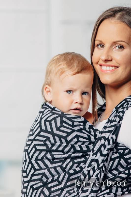 Basic Line Baby Sling - HEMATITE, Jacquard Weave, 100% cotton, size M #babywearing