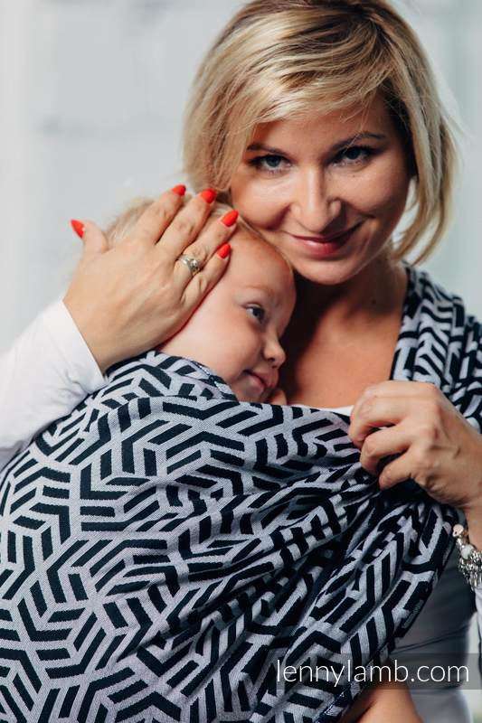 Basic Line Baby Sling - HEMATITE, Jacquard Weave, 100% cotton, size S (grade B) #babywearing