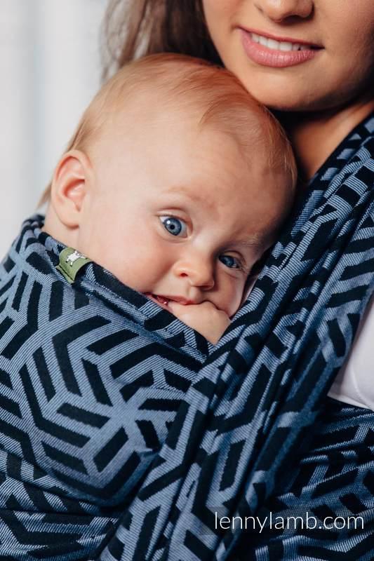 Basic Line Baby Sling - KYANITE, Jacquard Weave, 100% cotton, size XS #babywearing