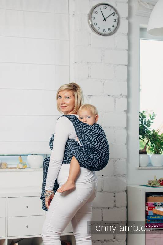 Mein Zweites Tragetuch - KYANITE, Jacquardwebung (100% Baumwolle) - Größe XL #babywearing