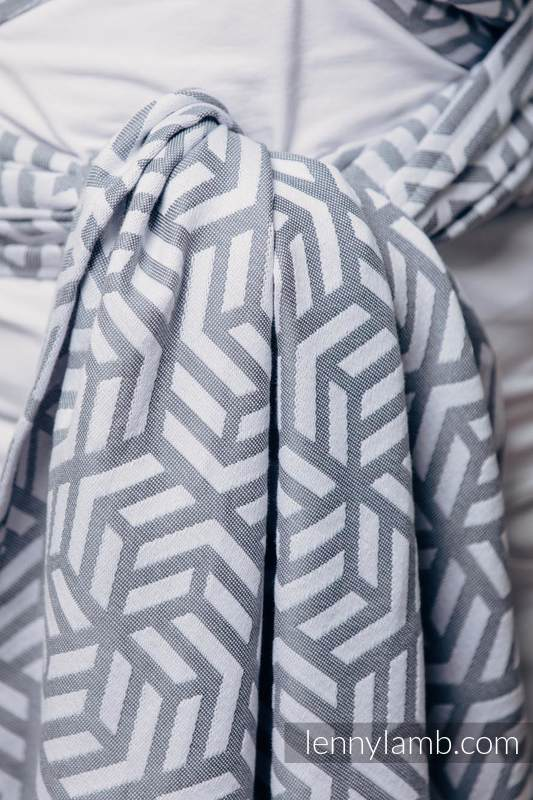 Basic Line Baby Sling - PEARL, Jacquard Weave, 100% cotton, size XS #babywearing