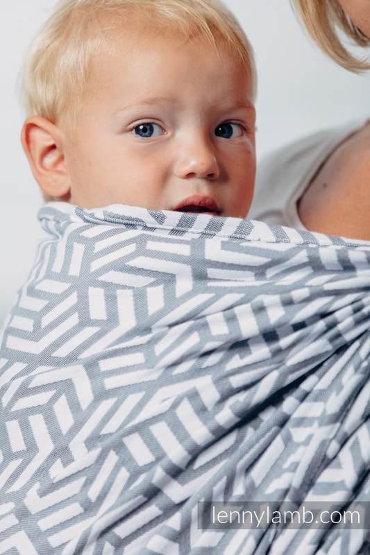 Basic Line Baby Sling - PEARL, Jacquard Weave, 100% cotton, size M #babywearing