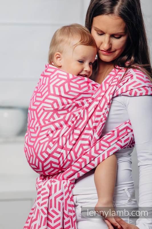 Basic Line Baby Sling - TOURMALINE, Jacquard Weave, 100% cotton, size L (grade B) #babywearing