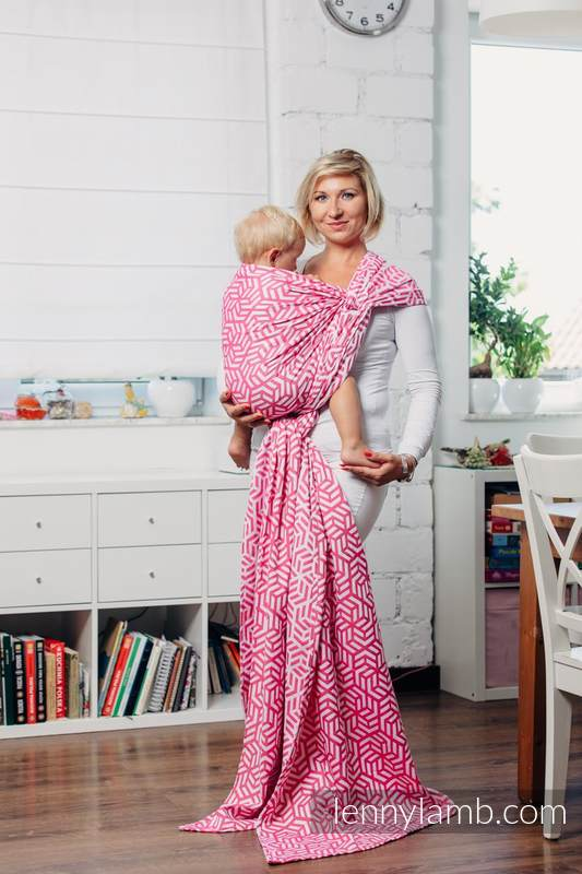 Basic Line Baby Sling - TOURMALINE, Jacquard Weave, 100% cotton, size M #babywearing