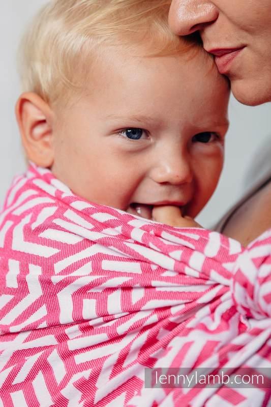 Basic Line Baby Sling - TOURMALINE, Jacquard Weave, 100% cotton, size XS (grade B) #babywearing