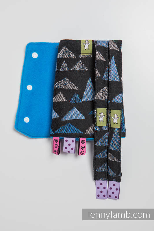 Drool Pads & Reach Straps Set, (60% cotton, 40% polyester) - EAGLES' STONES #babywearing
