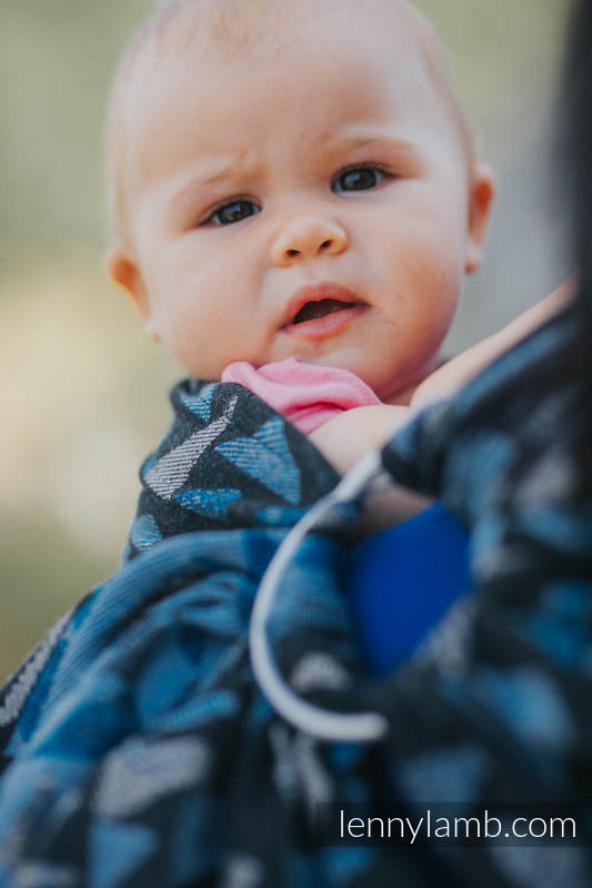 Ringsling, Jacquard Weave (100% cotton) - EAGLES' STONES - long 2.1m #babywearing