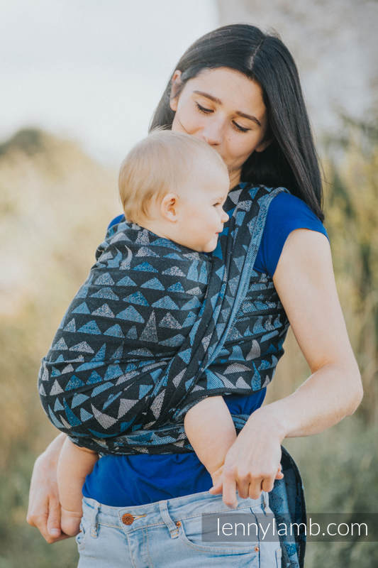 Baby Wrap, Jacquard Weave (100% cotton) - EAGLES' STONES - size XS (grade B) #babywearing