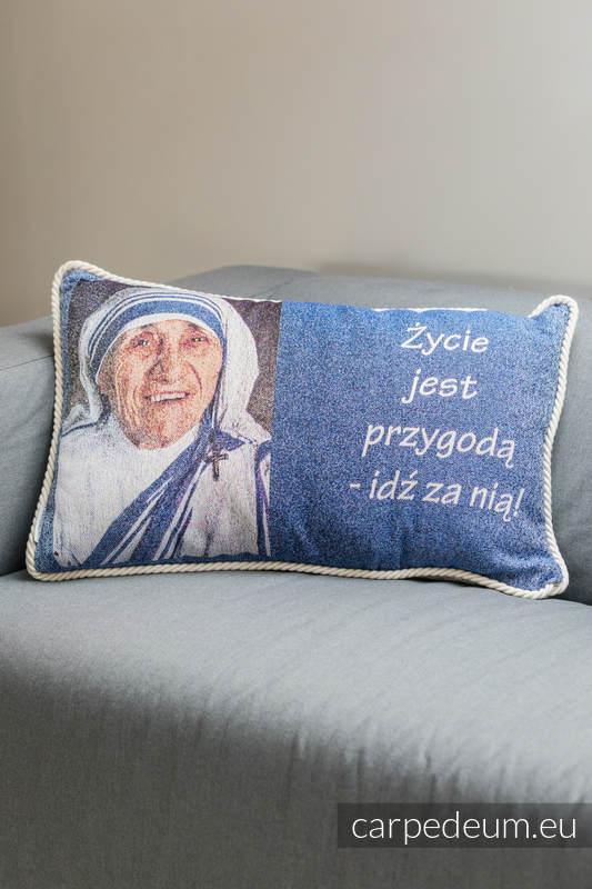 Poduszka żakardowa, (100% bawełna) - MATKA TERESA - uniwersalny rozmiar 62cmx43cm #babywearing