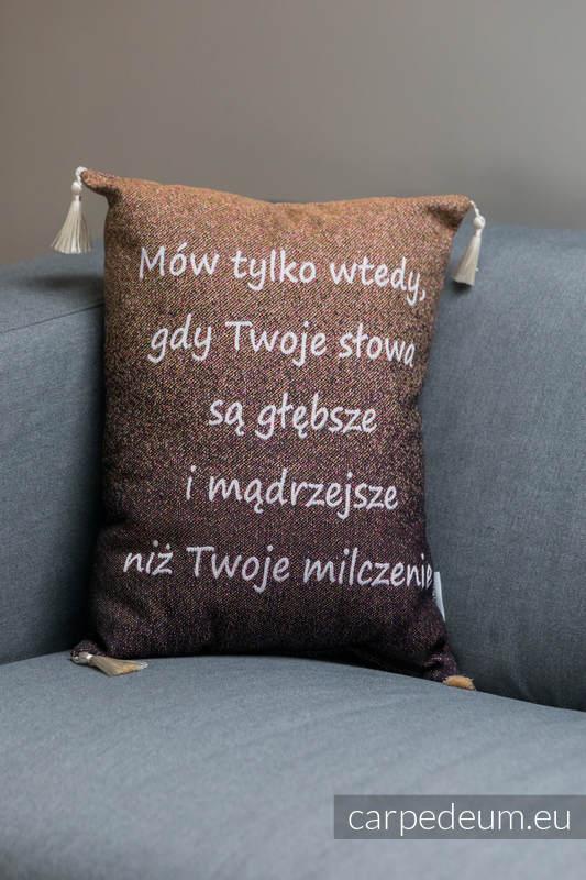 Poduszka żakardowa, (100% bawełna) - CHARBEL MAKHLOUF - uniwersalny rozmiar 31cmx43cm #babywearing