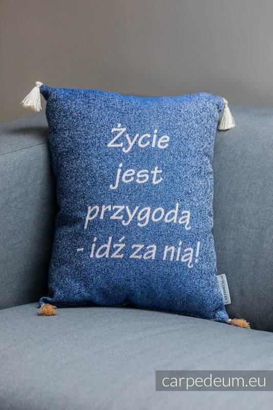 Poduszka żakardowa, (100% bawełna) - MATKA TERESA - uniwersalny rozmiar 31cmx43cm #babywearing