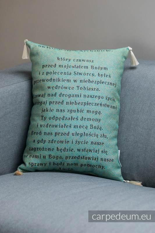 Poduszka żakardowa, (100% bawełna) - RAFAŁ ARCHANIOŁ - uniwersalny rozmiar 31cmx43cm #babywearing