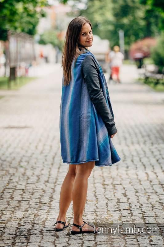 Długi kardigan - rozmiar L/XL - Mała Jodełka Iluzja #babywearing