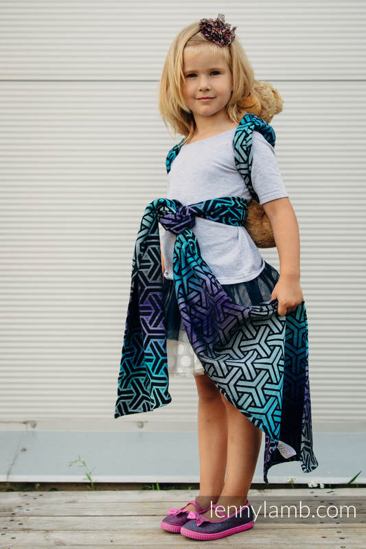 Doll Sling, Jacquard Weave, 100% cotton - TRINITY COSMOS #babywearing