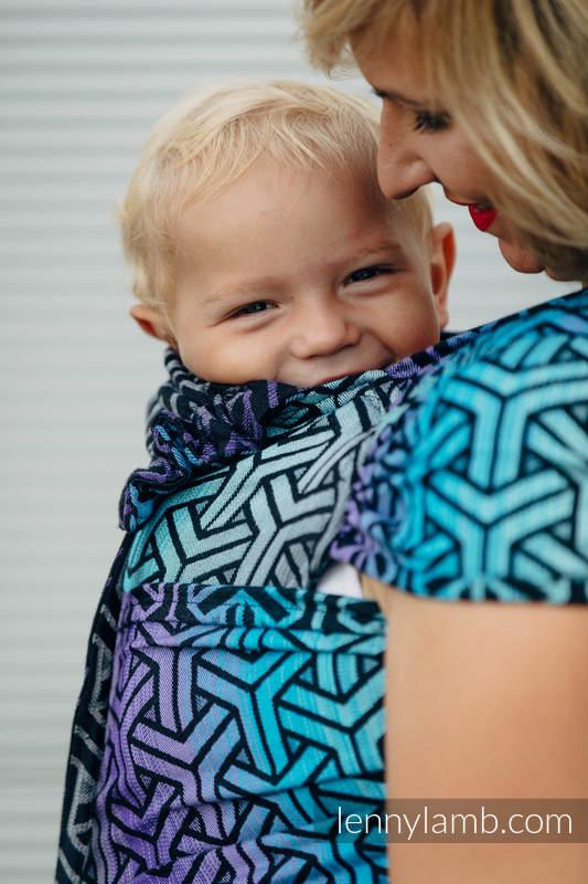 WRAP-TAI portabebé Toddler con capucha/ jacquard sarga/100% algodón/ TRINITY COSMOS (grado B) #babywearing