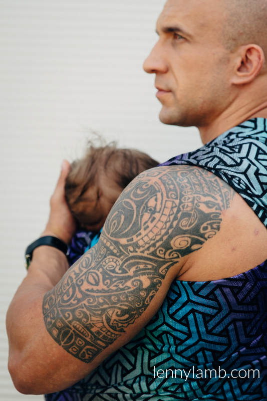 Baby Wrap, Jacquard Weave (100% cotton) - TRINITY COSMOS - size M #babywearing