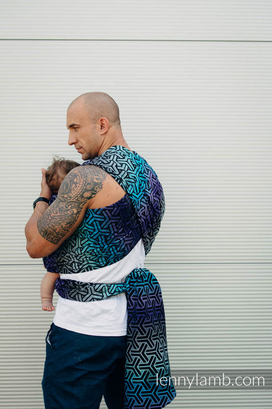 Baby Wrap, Jacquard Weave (100% cotton) - TRINITY COSMOS- size XS #babywearing
