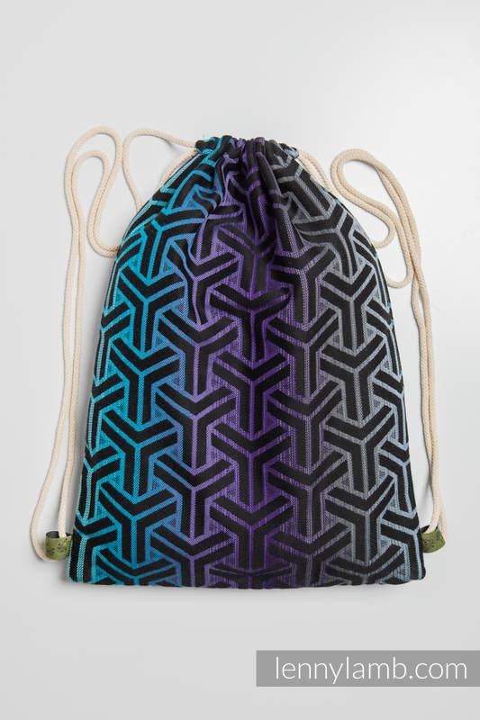 Sackpack made of wrap fabric (100% cotton) - TRINITY COSMOS - standard size 32cmx43cm #babywearing