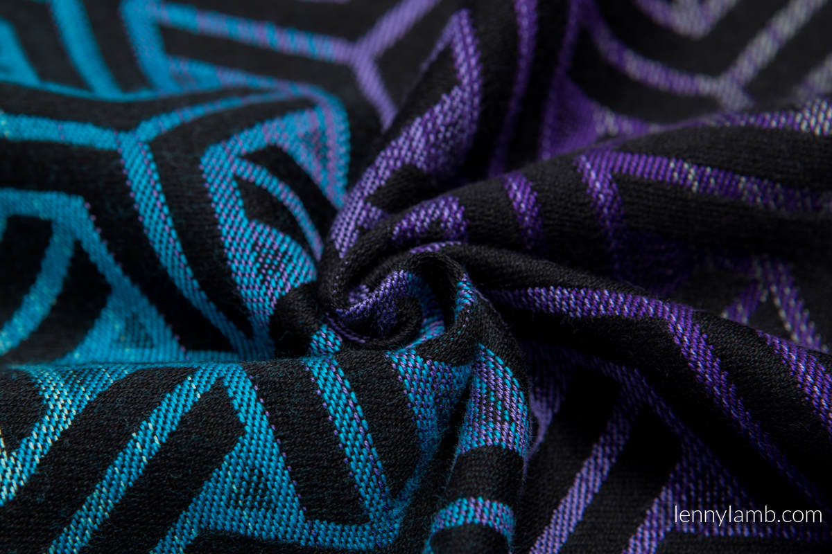 Baby Wrap, Jacquard Weave (100% cotton) - TRINITY COSMOS - size L (grade B) #babywearing