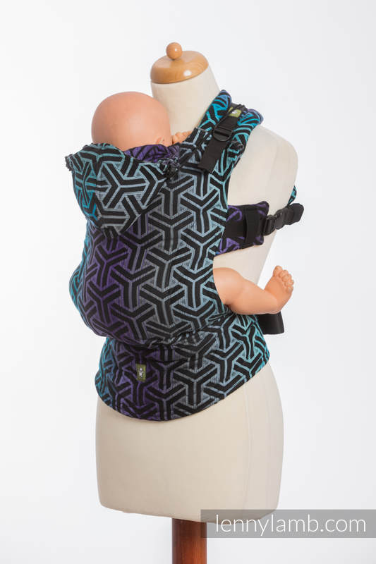 Ergonomic Carrier, Toddler Size, jacquard weave 100% cotton - TRINITY COSMOS - Second Generation #babywearing