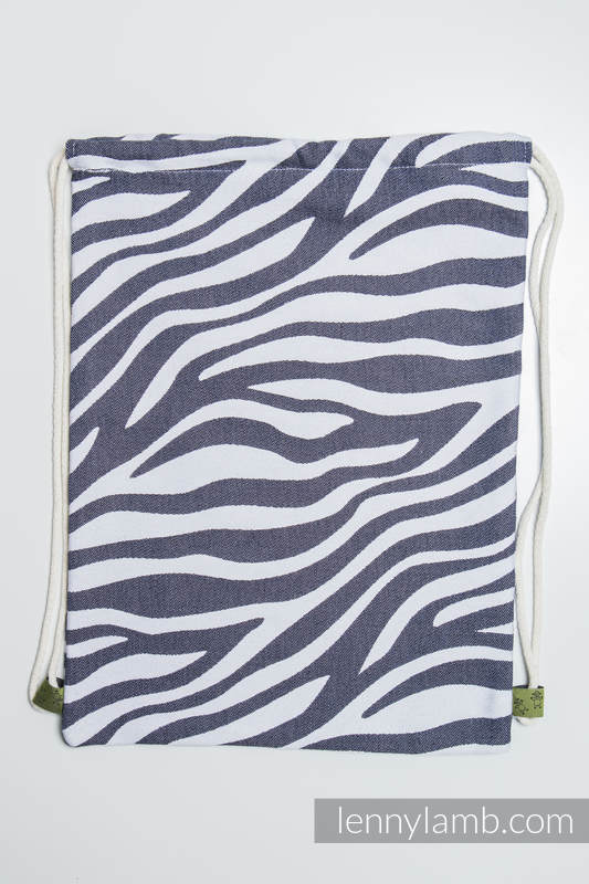 Sackpack made of wrap fabric (100% cotton) - ZEBRA GRAPHITE & WHITE - standard size 32cmx43cm #babywearing