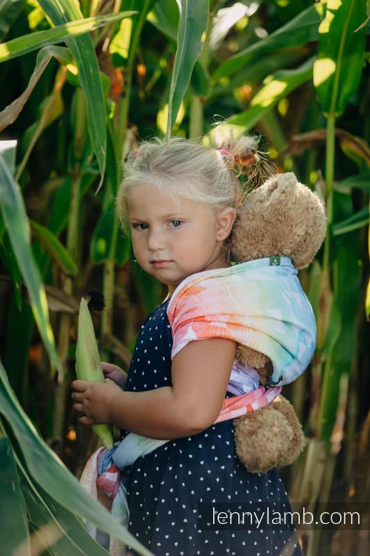Doll Sling, Jacquard Weave, 100% cotton - SWALLOWS RAINBOW LIGHT #babywearing