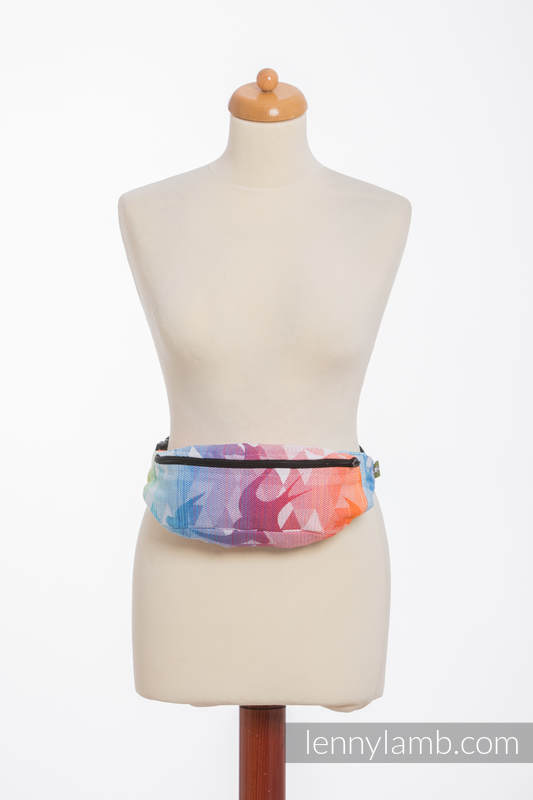 Waist Bag made of woven fabric, (100% cotton) - SWALLOWS RAINBOW LIGHT #babywearing