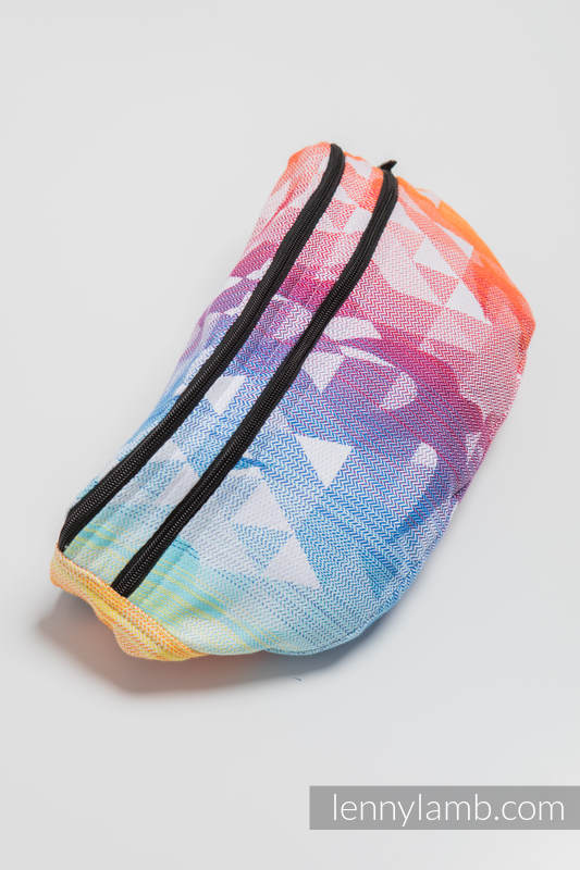 Waist Bag made of woven fabric, size large (100% cotton) - SWALLOWS RAINBOW LIGHT #babywearing