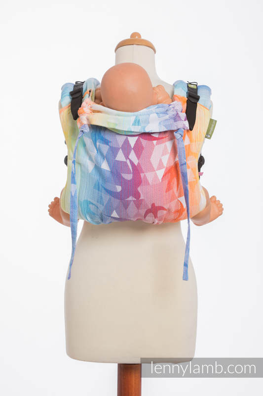 Lenny Buckle Onbuhimo baby carrier, standard size, jacquard weave (100% cotton) - SWALLOWS RAINBOW LIGHT #babywearing