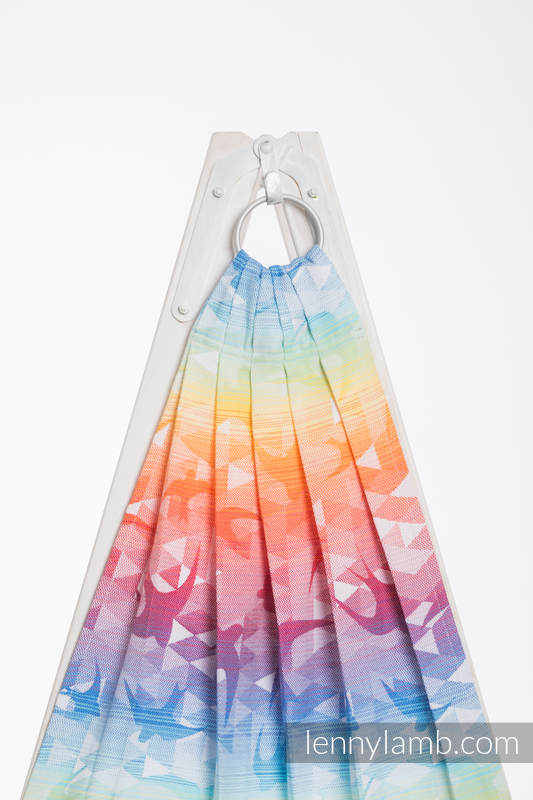 Ringsling, Jacquard Weave (100% cotton) - SWALLOWS RAINBOW LIGHT - long 2.1m #babywearing