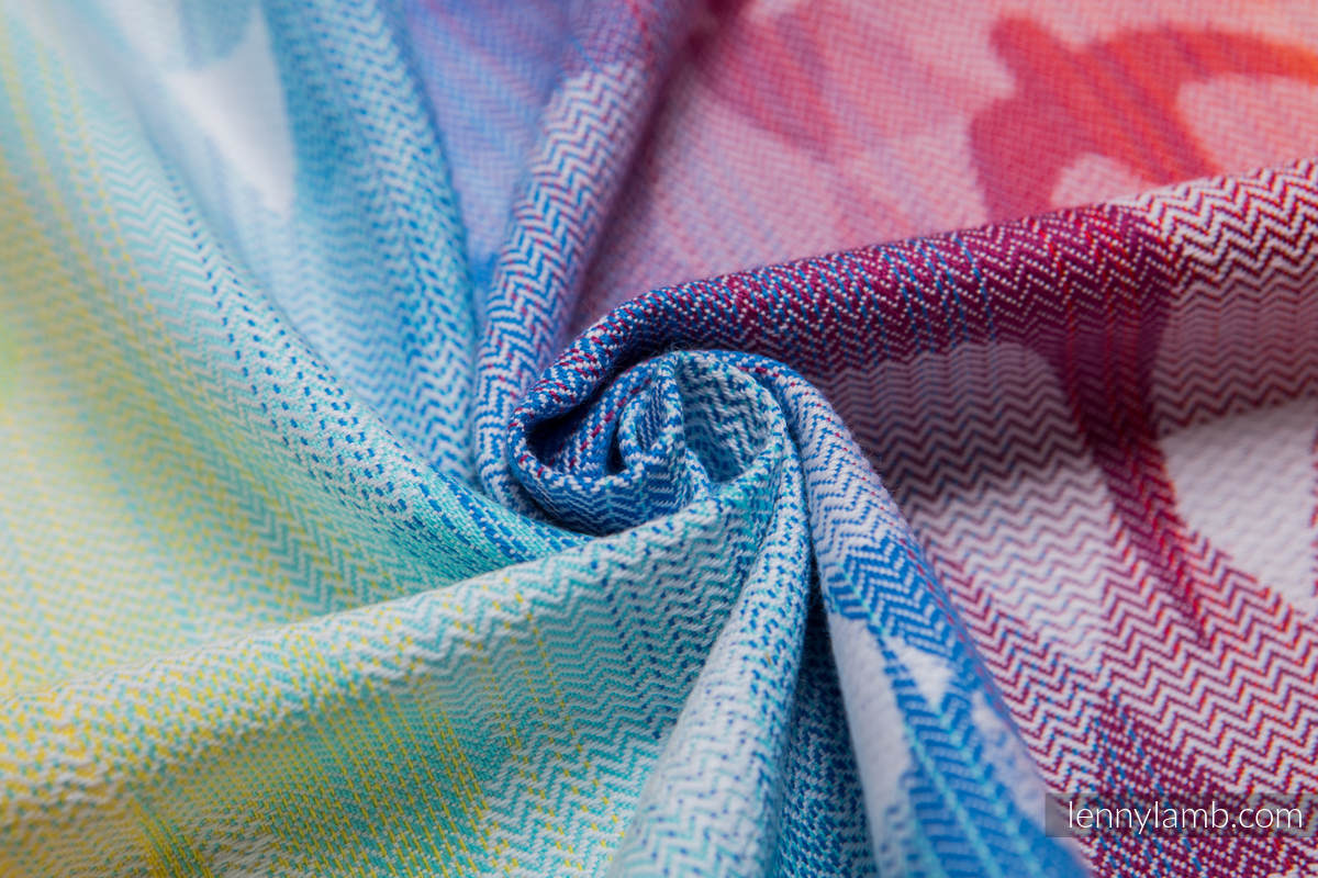 Doll Sling, Jacquard Weave, 100% cotton - SWALLOWS RAINBOW LIGHT #babywearing
