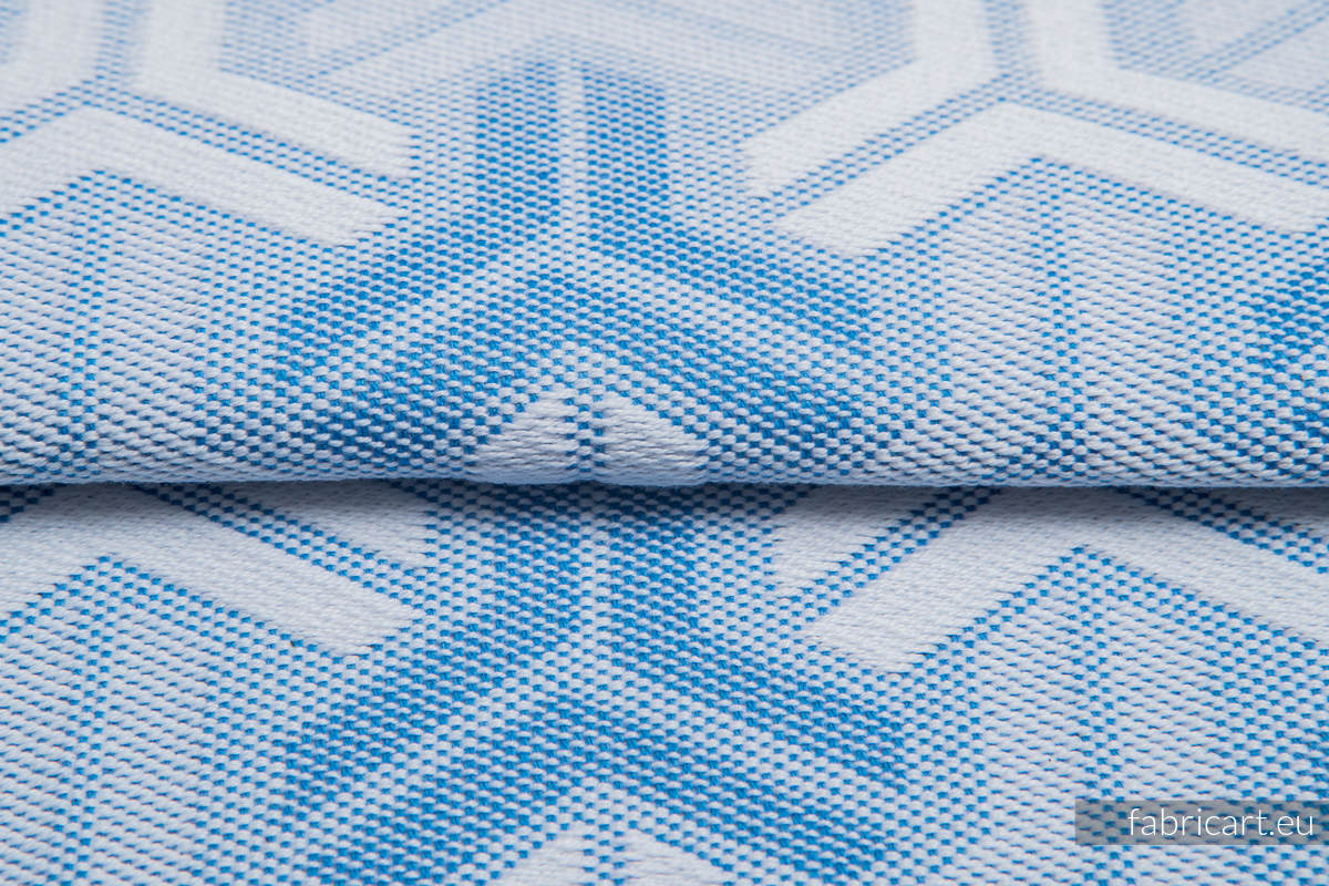 TRINITY NIEBIESKI, ćwiartka tkaniny, splot żakardowy, rozmiar 50cm x 70cm - OUTLET #babywearing