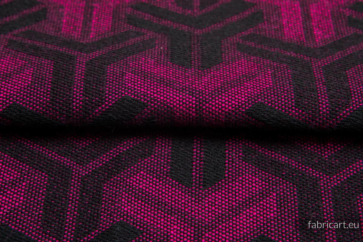 TRINITY MAGENTA Z CZARNYM, ćwiartka tkaniny, splot żakardowy, rozmiar 50cm x 70cm - OUTLET #babywearing